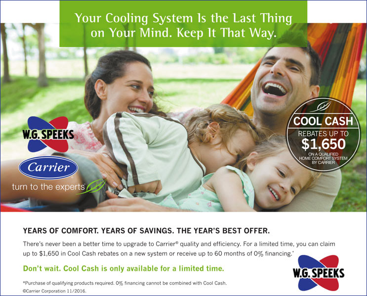 Carrier Cool Cash Rebates from W. G. Speeks